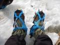 Excursion sur le glacier Los Exploradores - On chausse les crampons