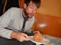 Muffin au dulce de leche d'anniversaire