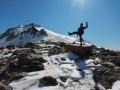 El Chalten - Pose absurde devant le Lago de los tres