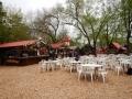 Villa General Belgrano - Les buvettes, vides, sous la pluie