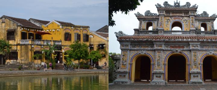 Au centre du Vietnam, Hoi An et Hué